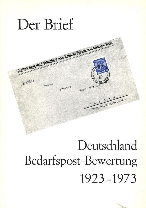 Der Brief Deutschland Bedarfspost Bewertung 1923 1973 Freiburg