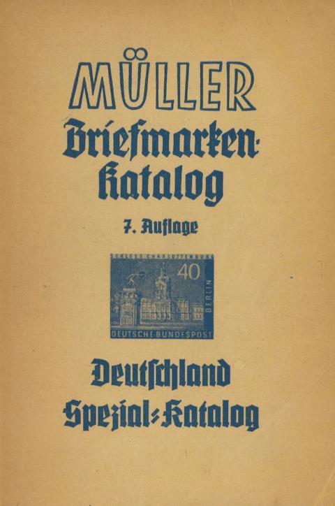 Müller Briefmarkenkatalog Deutschland Spezial Katalog Berlin 1957